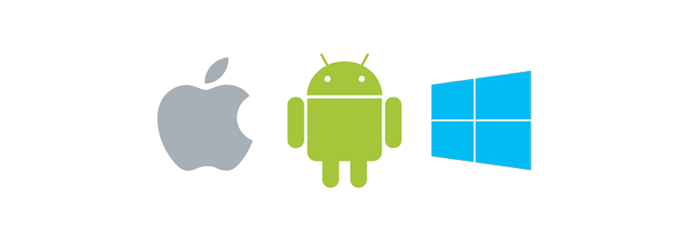 Android iOS et Windows Phone